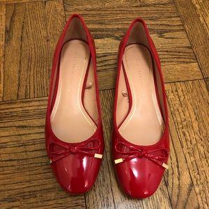 NWOT Zara Patent Leather Ballerina Pumps